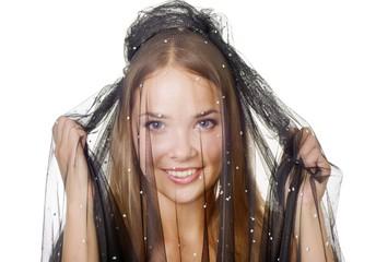 Beauty veiled girl