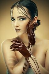 girl in chocolate
