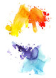 Watecolor abstract colorful background