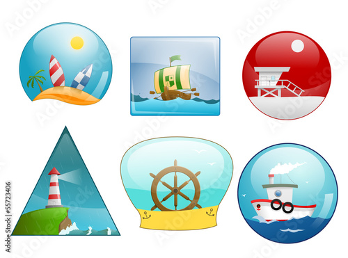 Icons of sea scene