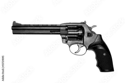 Revolver isolated on white background .