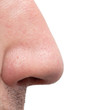nose man on a white background