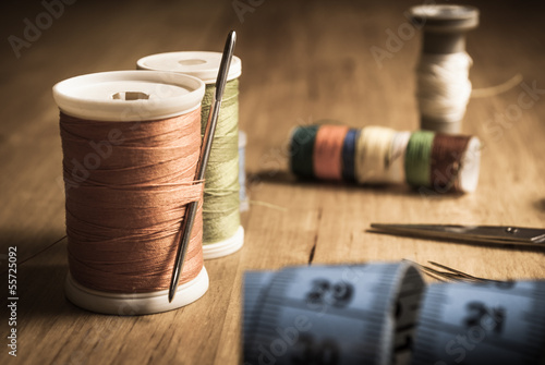 Sewing Equipment on Table
