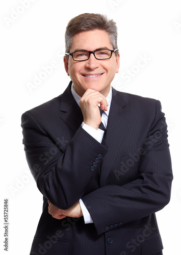 Businessman isolated on white.