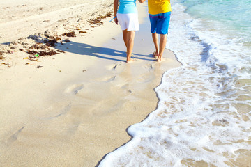 Steps on the beach.