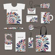 Corporate business style design: tshirt, labels, mug, bag, cards