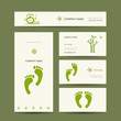 Business cards design, foot massage