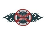 fire chopper motorcycle label