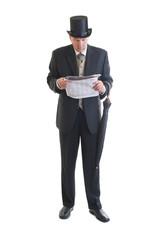 businessman in a retro business suit