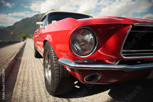 Fotobehang Vintage cars Classic Muscle Car