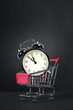 Alarm Clock in a shopping cart