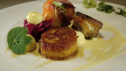Gourmet restaurant dish