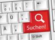 Suchen - Suchmaschine - Tastatur deutsch