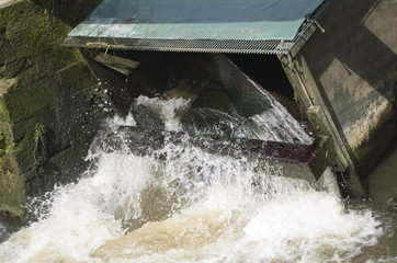 water driven Archimedian screw