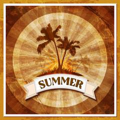 Летняя тропическая открытка, море