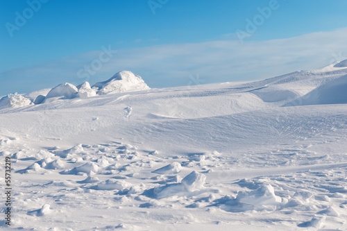 Fotobehang Gletsjers white snowy mountains