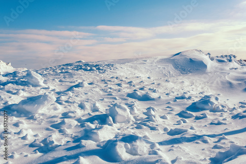 white snowy mountains