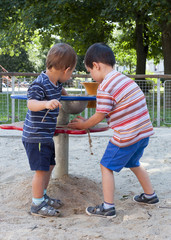 Children playing at playground