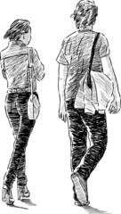 pair at walk