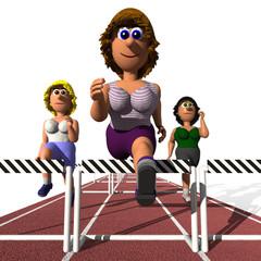 Frauenpower - Hürdenläuferin