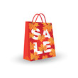 Autumn sale. Illustration with shopping bag.
