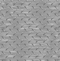 Metal plate. Seamless vector texture.