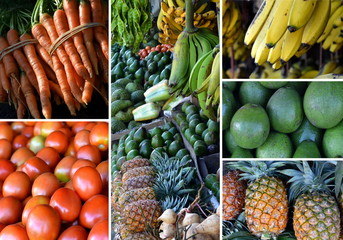 Fresh fruit picture taken at traditional market stall