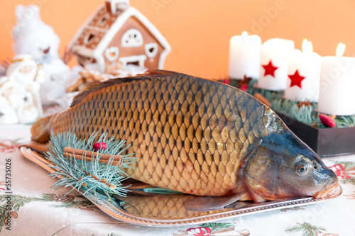 Czech tradition - carp on Christmas table