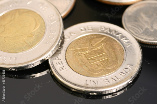 Panamanian Coins Close Up