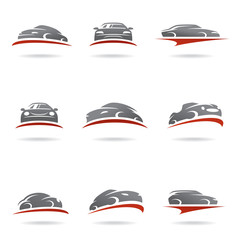 Car set. Vector