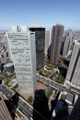 Shinjuku Skyscrapers seen from Observatory of Tokyo Metropolitan