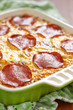 Casserole with pepperoni