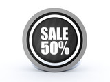 sale round icon on white background