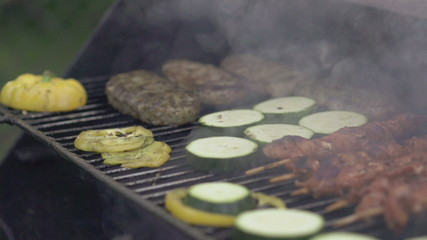 Grill, super slow motion shot at 240fps