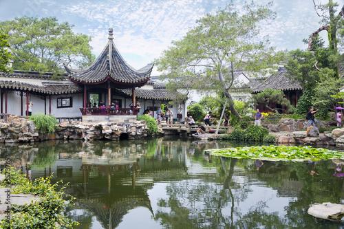 In de dag Tuin Chinese traditional garden - Suzhou - China