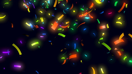 Animation of confetti falling