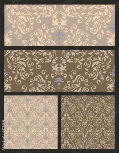 Nahtlosmuster Set. Seamless Pattern EPS8