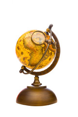 Vintage Globe isolated on white