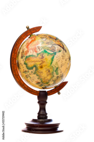 Vintage Globe isolated on white