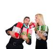 pärchen mit geschenken
