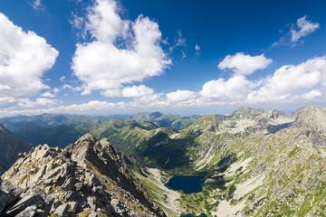 On top of the mountain peak. High Tatras, Slovakia, EU