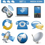 Vector Media Icons Set 1