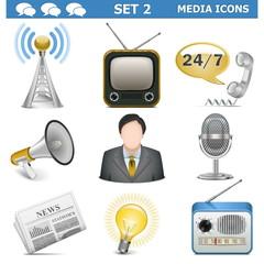 Vector Media Icons Set 2