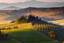 Тосканского пейзажа. Италия