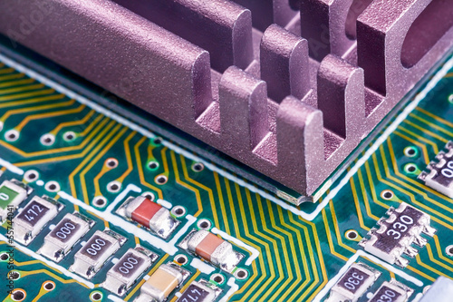 Electronic components on a printed-circuit board
