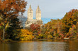 Autumn view from Central Park, New York
