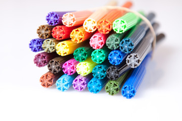 Coloured Pens Close Up