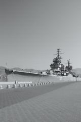 Warship in the port, Novorossiysk, Russia.