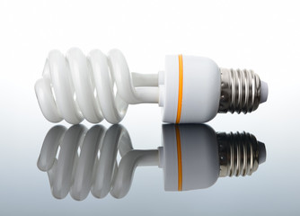 Energy saving light bulb with reflection