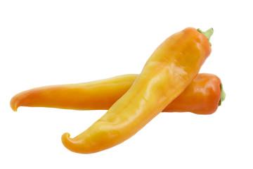 Spitzpaprika auf weißem Hintergrund